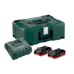 Metabo 2 x LiHD 3.5 Ah ASC Ultra +met. - Basic-Set LiHD